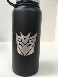 Black hydroflask - decpticon