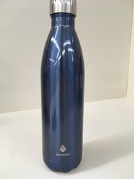 Blue metal bottle