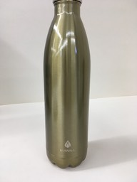Gold metal bottle