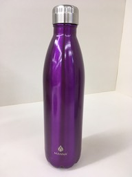 Purple metal bottle