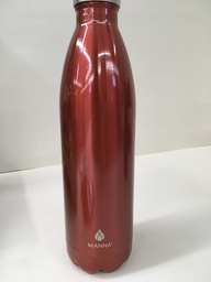 Red metal bottle